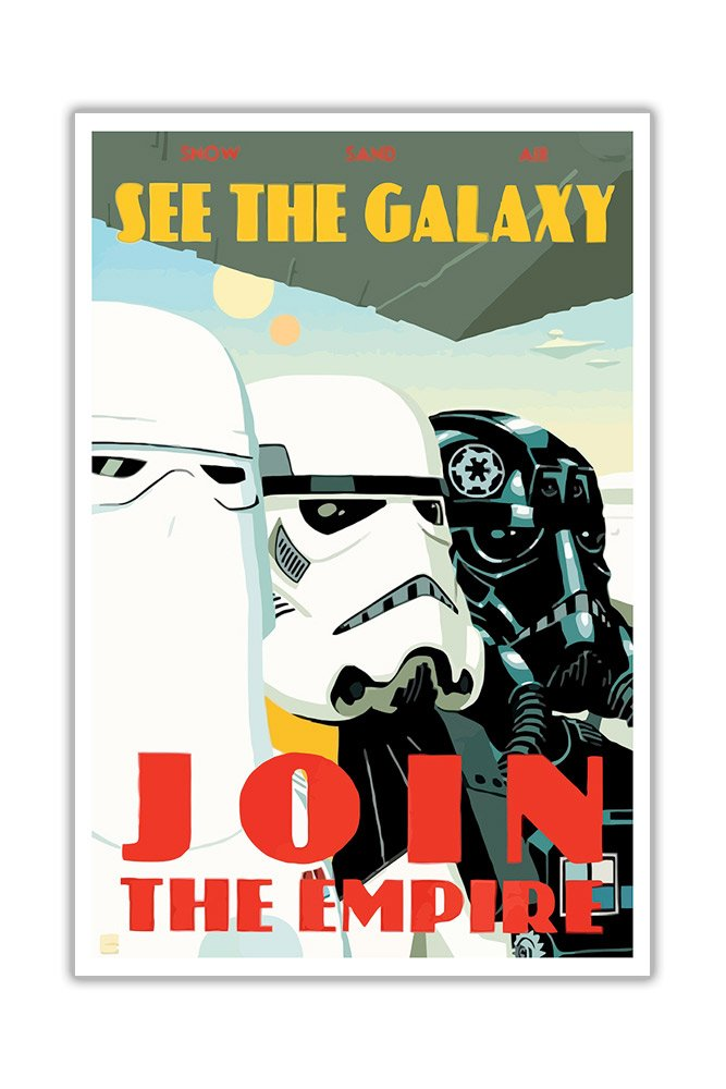 pop art canvas wall art pictures star wars quote join the empire war
