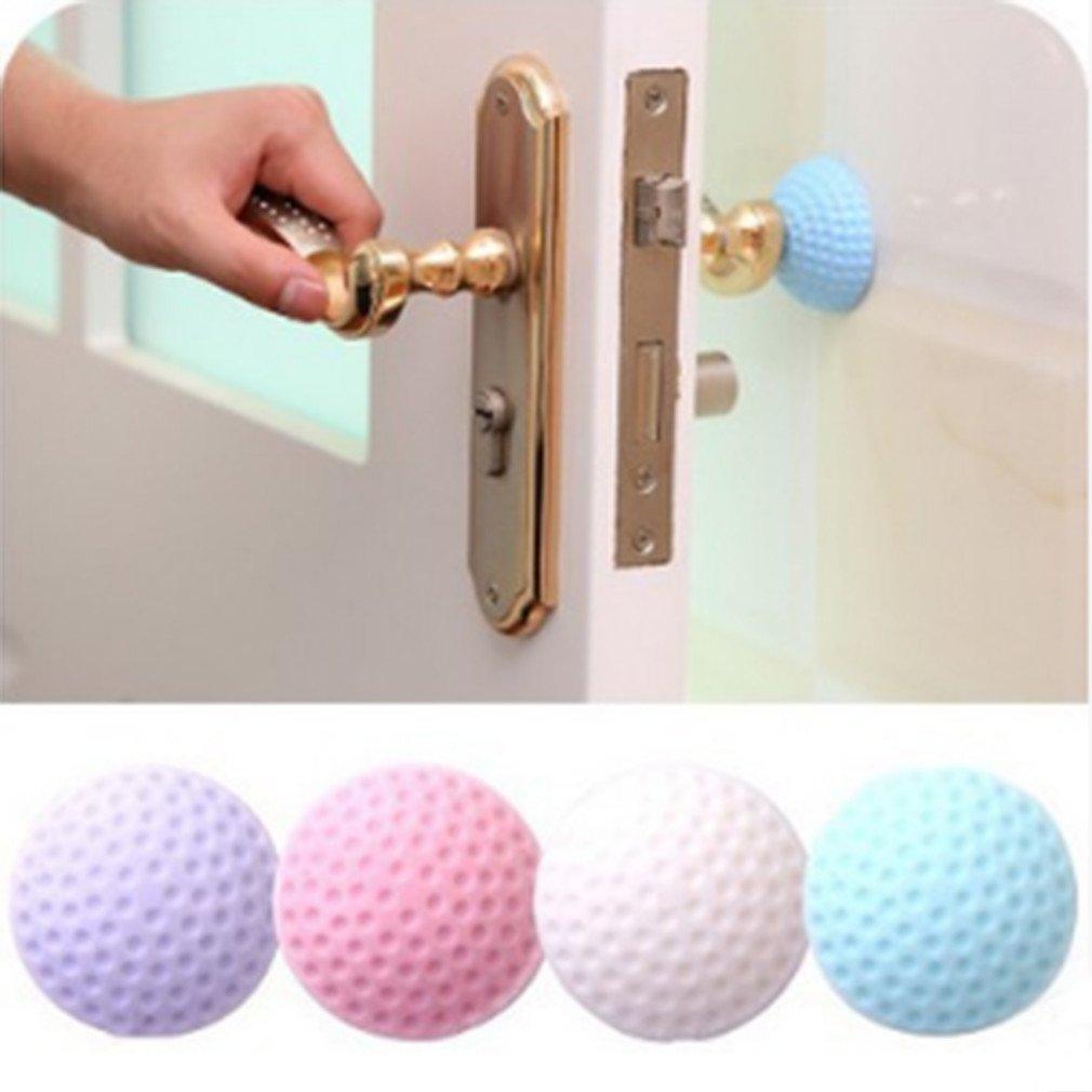 Vwh, 1 paraurti per maniglia porta, gommino autoadesivo per proteggere la maniglia della porta da urti Purple