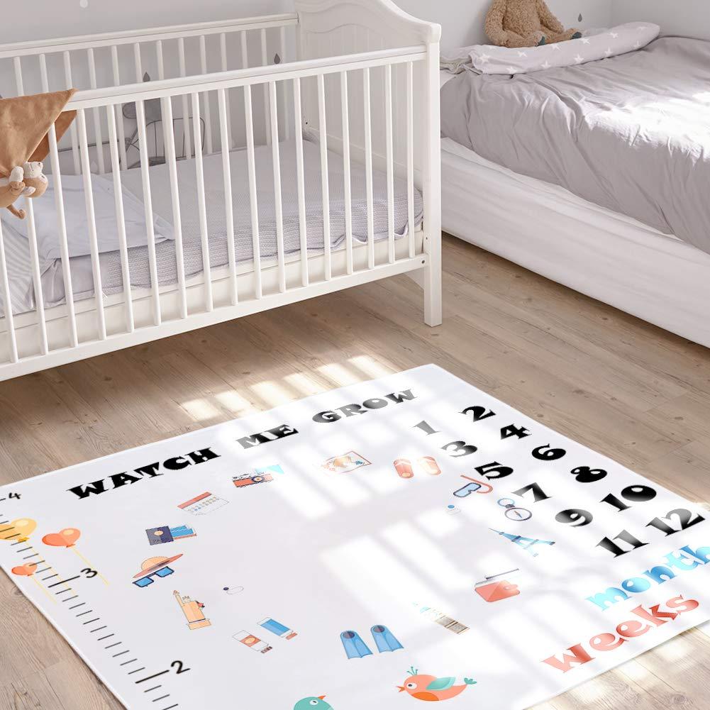 StillCool Mensual Mantas bebé Milestone hito Recién nacido regalo Fondo de Fotografía para Recién nacido y niños pequeños en crecimiento mamá & papá ...