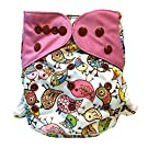 "HappyEndings ""Night, Night""TM Charcoal Bamboo All In One Diaper (+Pocket & 5 Layer Charcoal Bamboo Insert) ""All A Twitter"""