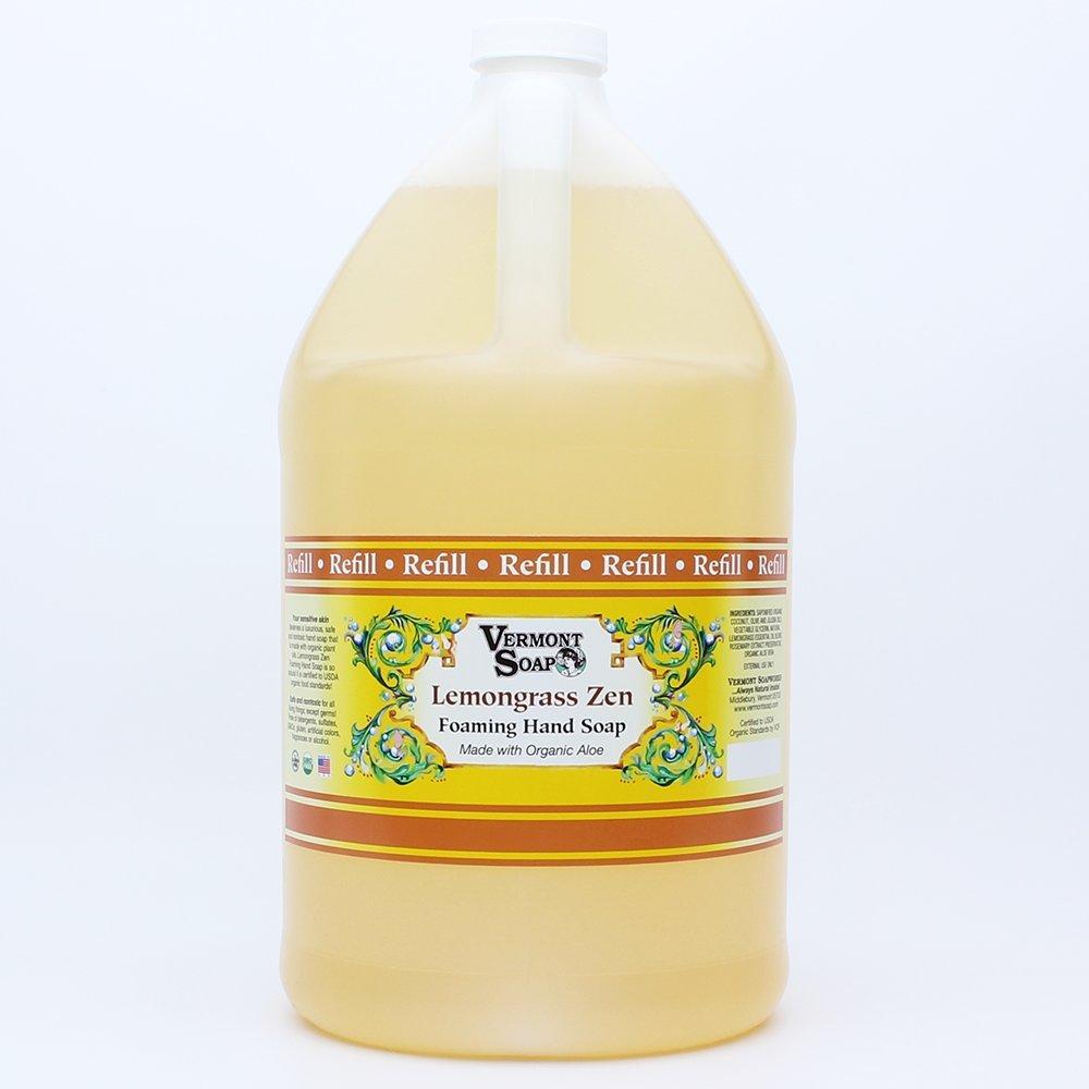 Vermont Soap Organics - Lemongrass Foaming Hand Soap Gallon Refill