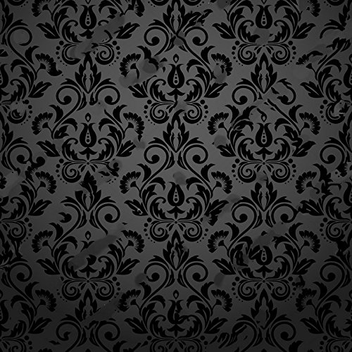 5x7ft Black Damask Floral Pattern Flowers Photo Studio Background High-Grade Portrait Cloth Computer Print Wall backdrops
