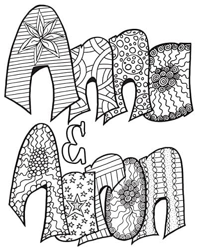 Amazon.com: Custom Couples Coloring Pages: Handmade