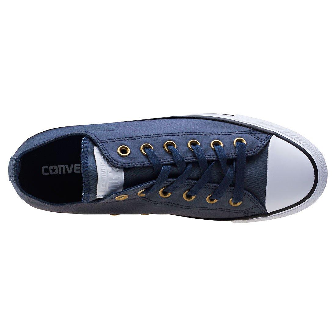 Converse Taylor Damen Schuh Chuck Taylor Converse OX Schlangenhautmuster Silber/weiß Indigo a1882f