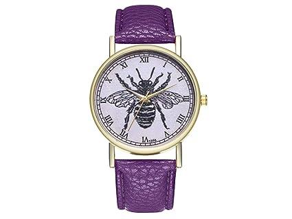 YIIO Reloj Exquisito Vintage House Fly Insect Ladies Reloj para Hombres Regalo Unisex (Verde Menta