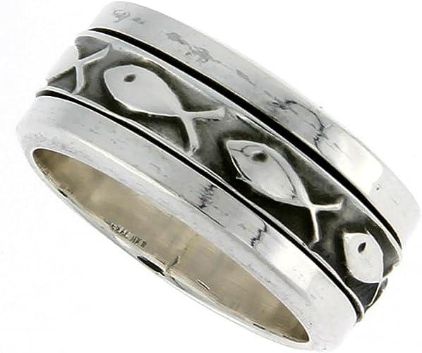 Statement Spinner Ring Handmade 925 Sterling Silver Boho Handmade Jewelry for Women Size 6