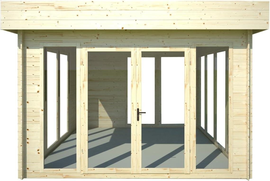 Tejado plano para caseta de jardín isla solar – 3,50 x 3,70 m (con listones de 28 mm): Amazon.es: Bricolaje y herramientas