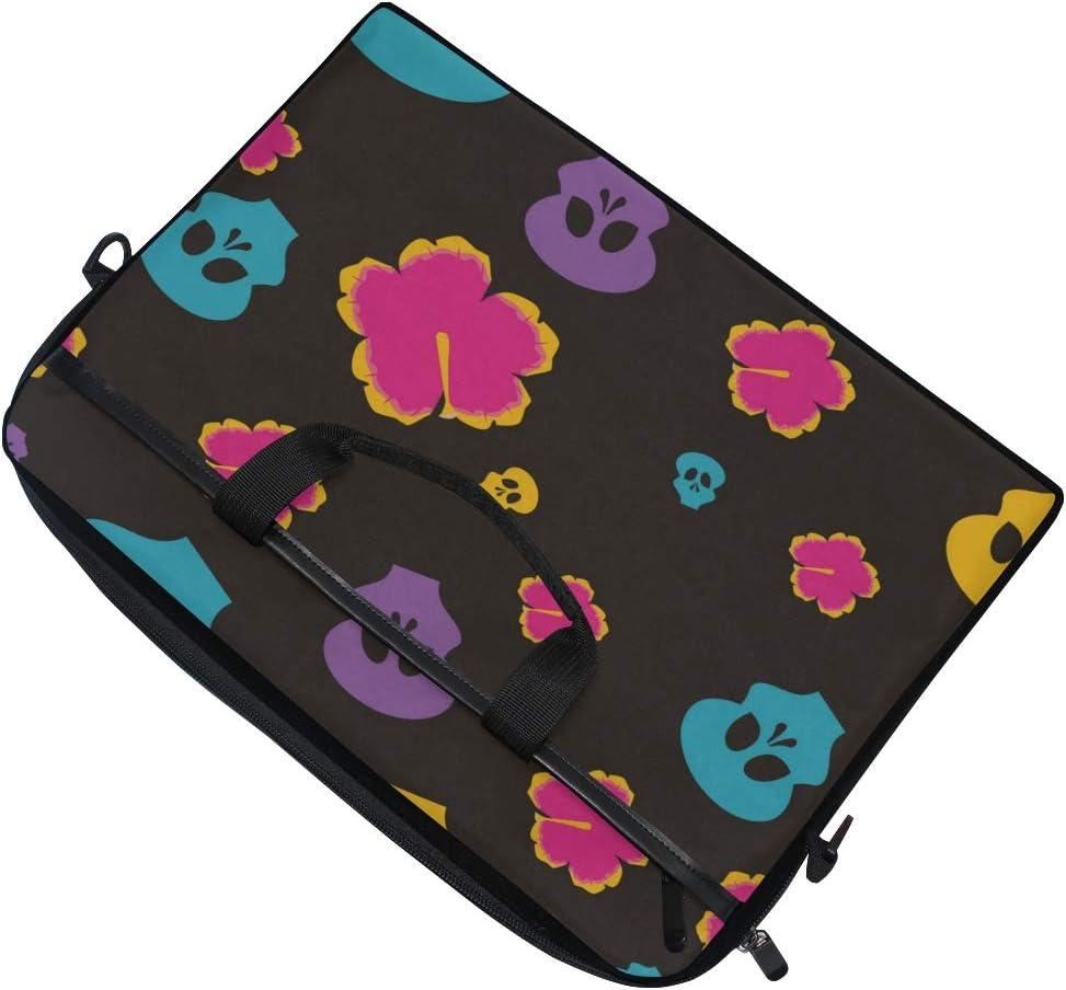 Briefcase Messenger Shoulder Bag for Men Women Laptop Bag Day of The Dead Celebration 15-15.4 Inch Laptop Case College Students Business People Off