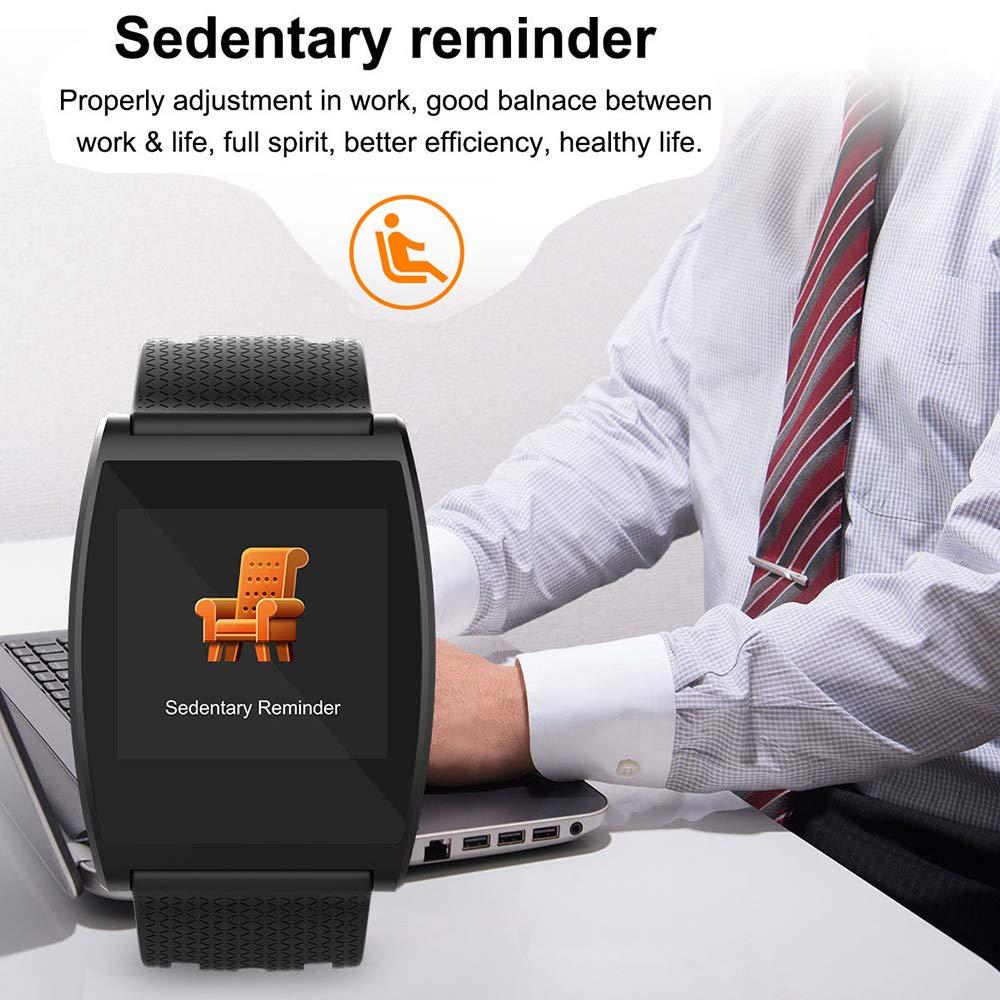 TONGTONG Reloj Inteligente Impermeable presión Arterial SmartWatch GPS Fitness Tracker Monitor de Ritmo cardíaco Llamada recordatorio Reloj Hombres Mujeres: ...