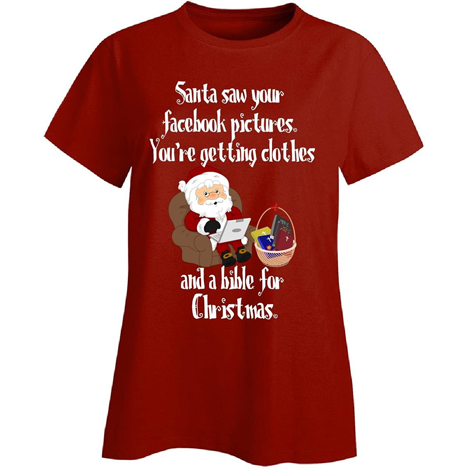 Red Festive Christmas Your Saw Santa Tote Funny]