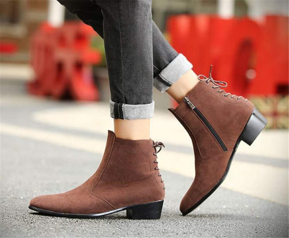 Men ' S schuhe, Trend High-Top Pointed Mens Mens Mens British Zipper Leather Stiefel erhöhte Stiefelies Matte Leder Martin Stiefel Fall Winter New,B,44 9efa10