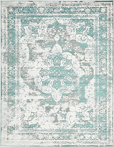 Unique Loom 3137824 Sofia Collection Traditional Vintage Beige Area Rug, 9' x 12' Rectangle, (Rectangle Traditional Green Color)