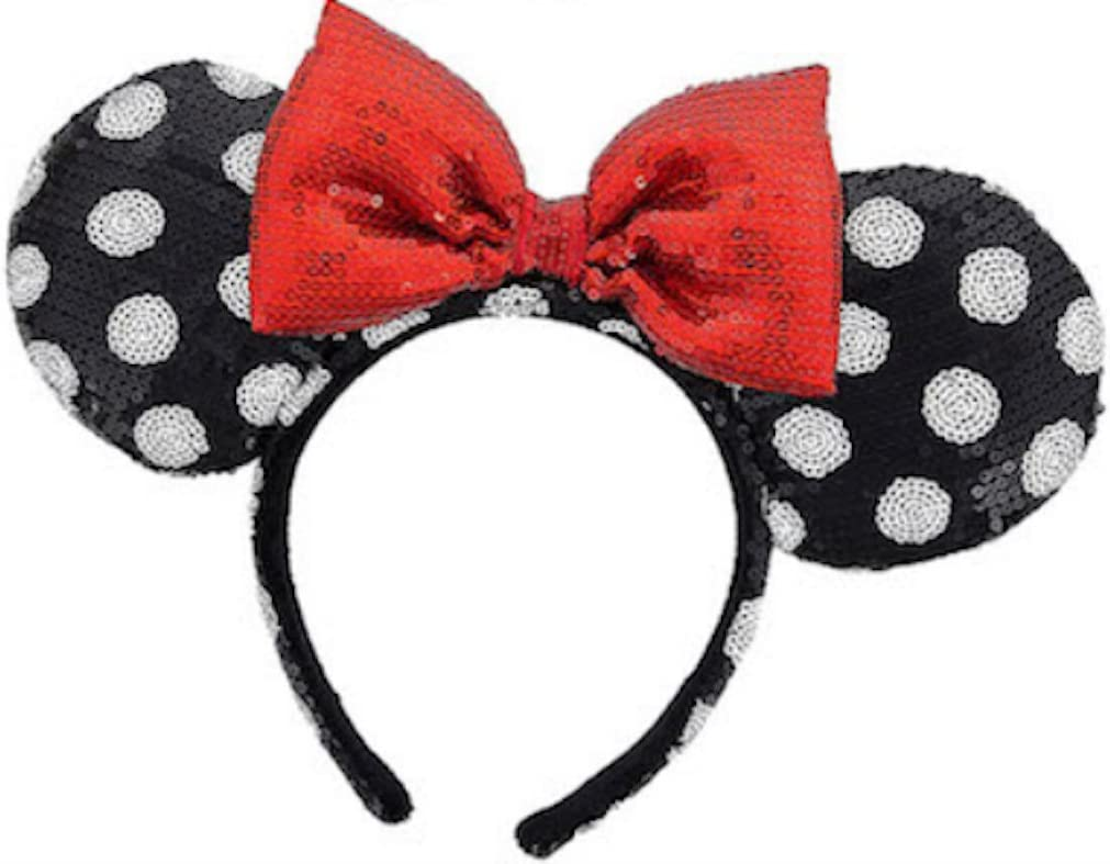 Disney Parks Minnie Mouse Ears Bow Sequins Headband