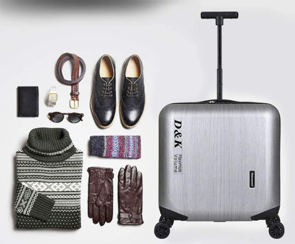18 Inch Business Suitcase ,Light Weight Luggage,360 Universal Wheel Boarding Anti-theft Password Trolley Case .Man//Woman Travel Luggage Sets