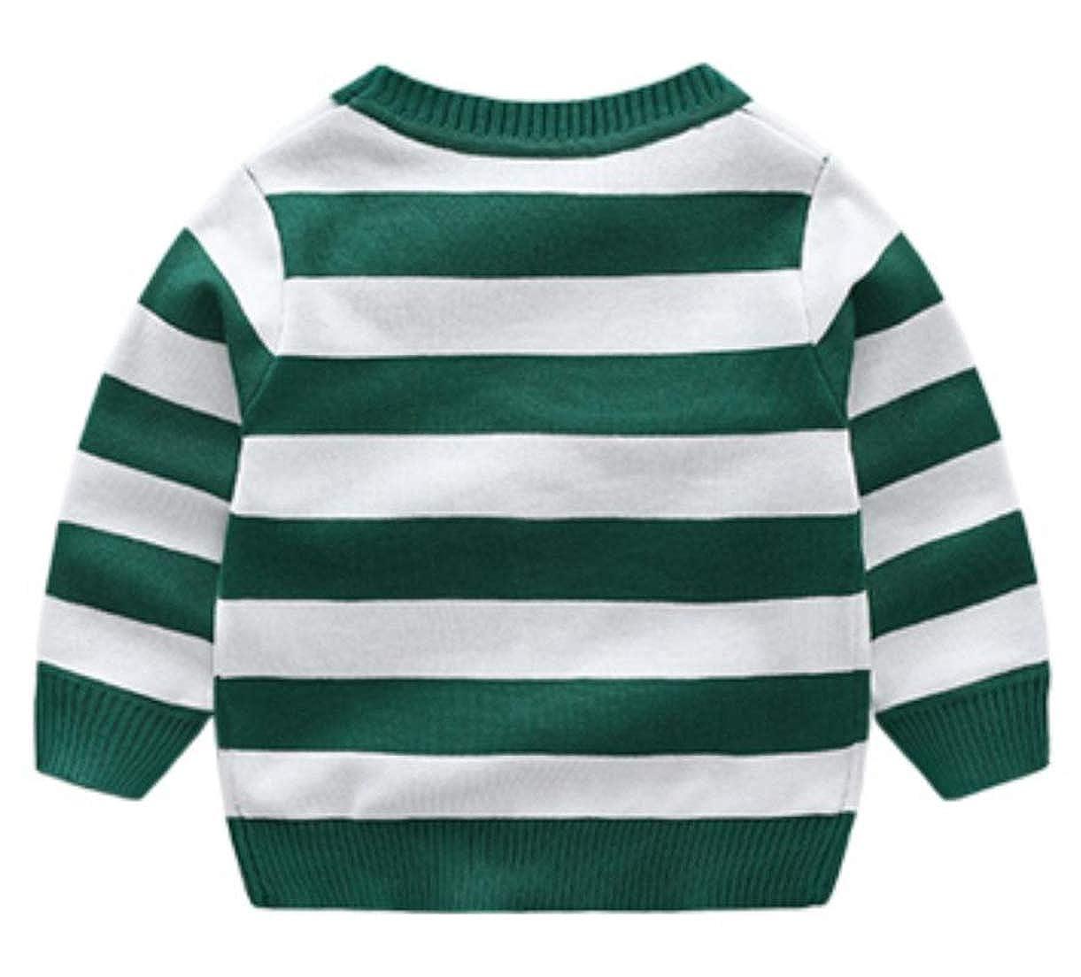 Hajotrawa Girls and Boys Knit Long Sleeve Children Tops Sweaters Cardigans