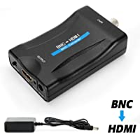 MakeTheOne BNC Female to HDMI Video Converter Adapter Box for Security Camera CCTV Moniter with 720P / 1080P HD Output Switch