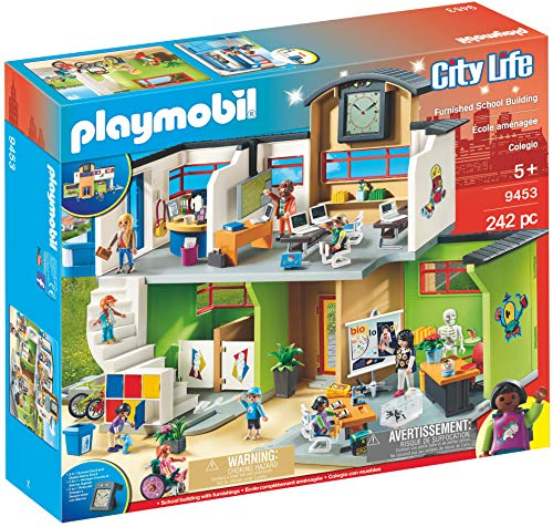 Playmobil Furnished School Building, Multicolor (Play Schoolhouse)