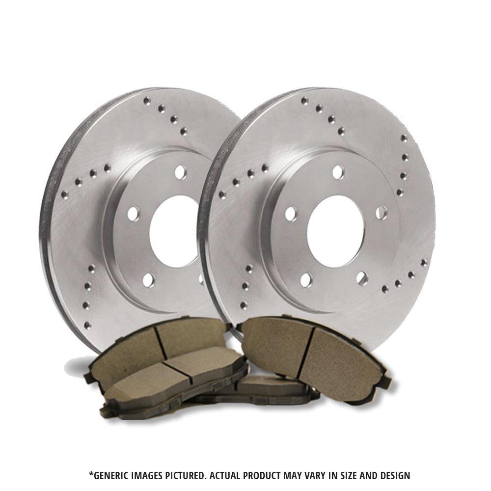 4 Semi-Metallic Pads 2 Cross Drilled Great-Life Premium Disc Brake Rotors 5lug Front Kit -Combo Brake Kit
