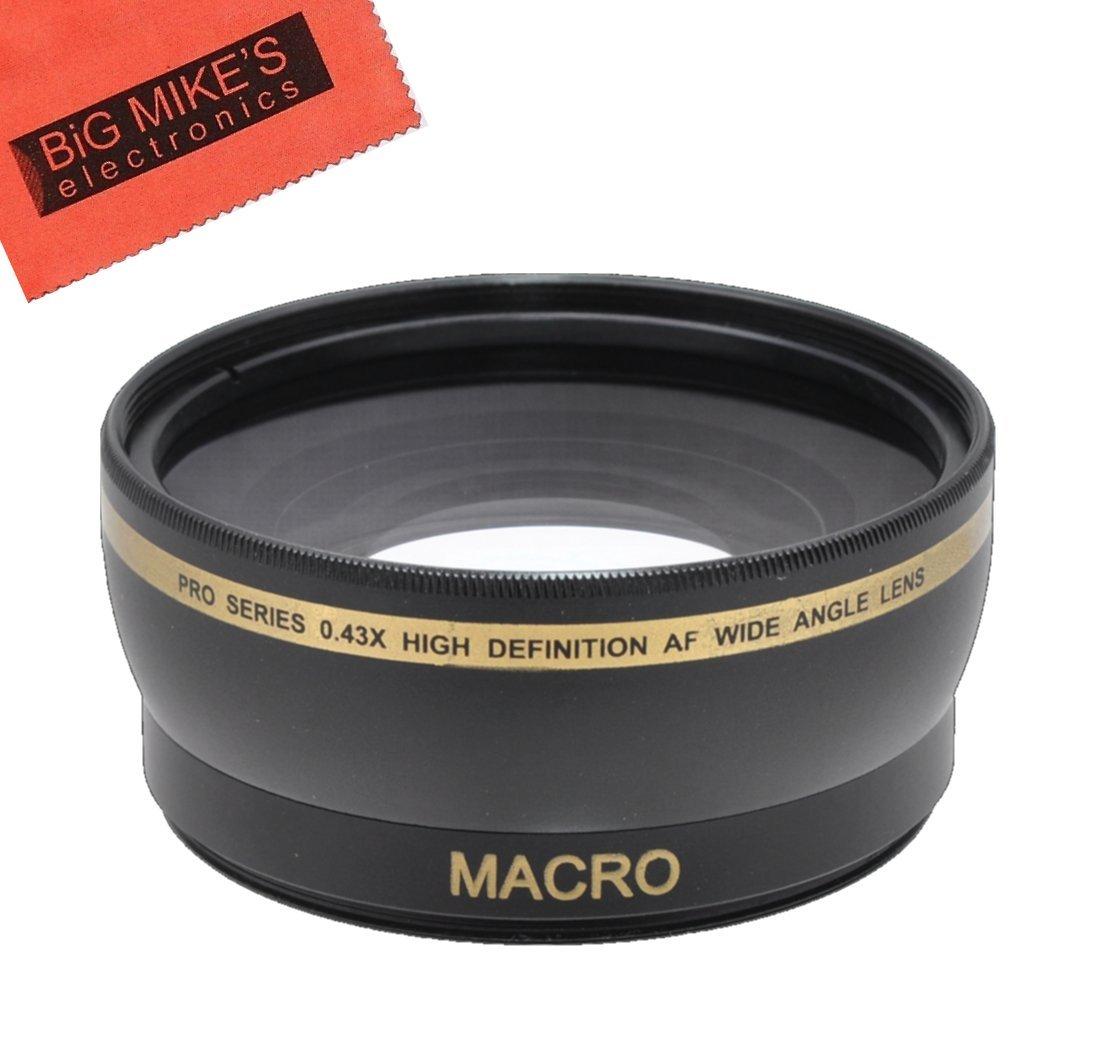 72mm Wide Angle Lens .43X for Sony CyberShot DSC-RX10 III, DSC-RX10 IV Digital Cameras