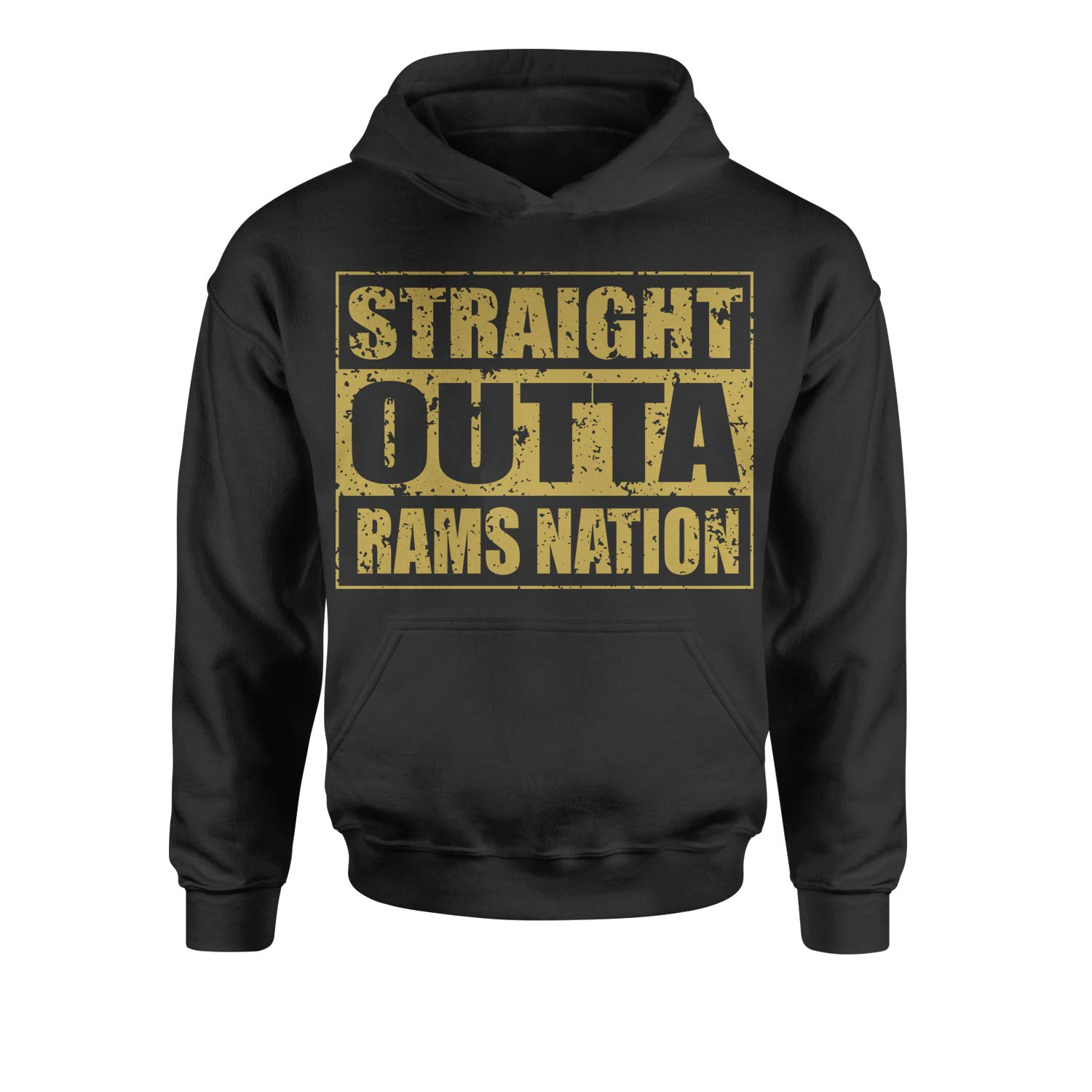 Motivated Culture Straight Outta Rams Nation Football Youth-Sized Hoodie