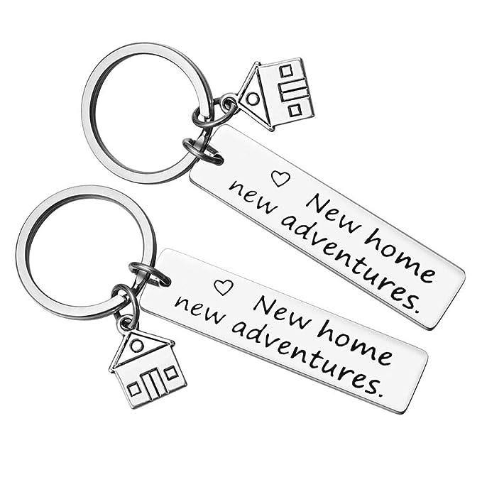 Amazon.com: Llavero con diseño de casa nueva y nueva ...