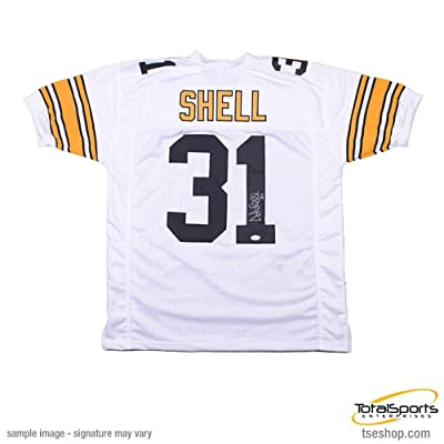 90a0be1e7d4 Dermontti Dawson Signed Pittsburgh Steelers Black Custom Jersey with ...