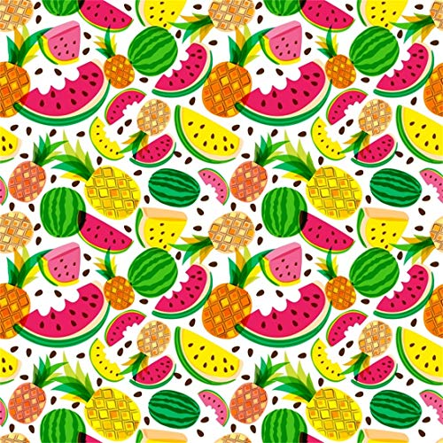 Yeele 6x6ft Tropical Fruit Photography Background Tile Mode Pineapple Watermelon Summer Party Photo Backdrops Portrait Shooting Studio Props]()
