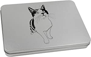 Azeeda 220mm 'Cute Cat' Metal Hinged Tin / Storage Box (TT00089292)