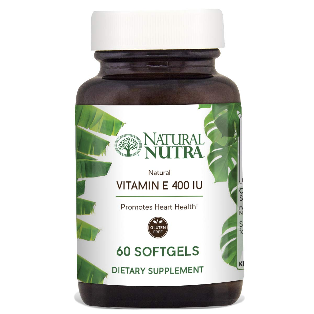 Natural Nutra d-Alpha Tocopherol Vitamin E 400 IU Supplement for Skin, Hair and Nails, Heart Health, Face Elasticity and Scar Repair, 60 Softgels