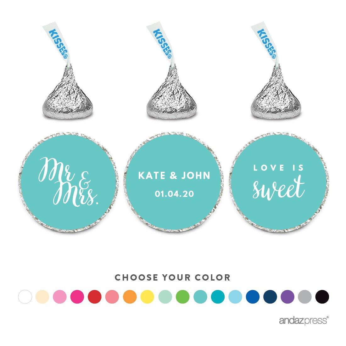 Amazon.com: Andaz Press Personalized Chocolate Drop Labels Trio ...
