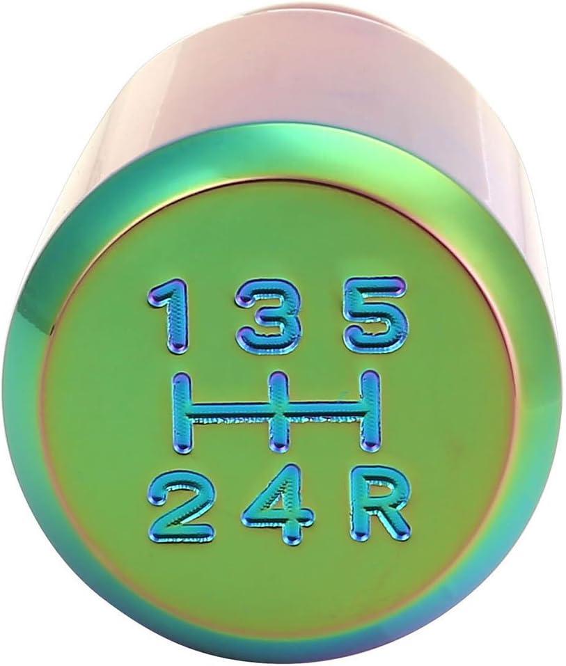 Graceme Pommeau de Levier de Vitesse Voiture Color/é Universel 5 6 Vitesses avec 3 manches caoutchoucs Color/é Ballon