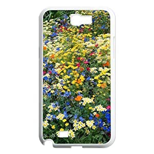 Beautiful Wildflowers Customized Cover Case with Hard Shell Protection for Samsung Galaxy Note 2 N7100 Case lxa#423622 hjbrhga1544