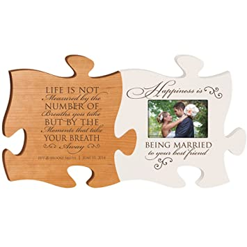 Amazoncom Personalized Wedding Picture Frame Puzzle Piece Set
