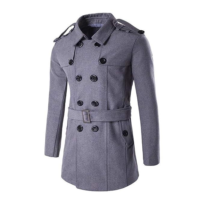 Abrigo De Hombre Chaqueta De Marinero Abrigo De Guisante Coat De Lana Abrigo Chaqueta De Marinero Abrigo De Guisante Chaqueta De Manga Larga Abrigo Slim De ...