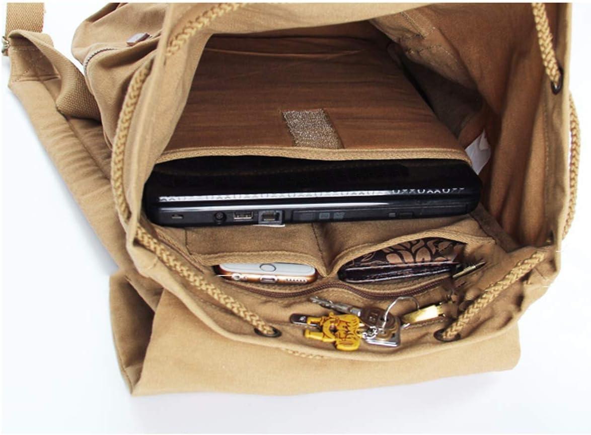 Travel Essential Classic Brown Large Capacity 22 Inches Vintage Backpack Canvas Bag Waterproof and Wearable Duffel Bag Handbag Xiaoningmeng Shoulder Bag