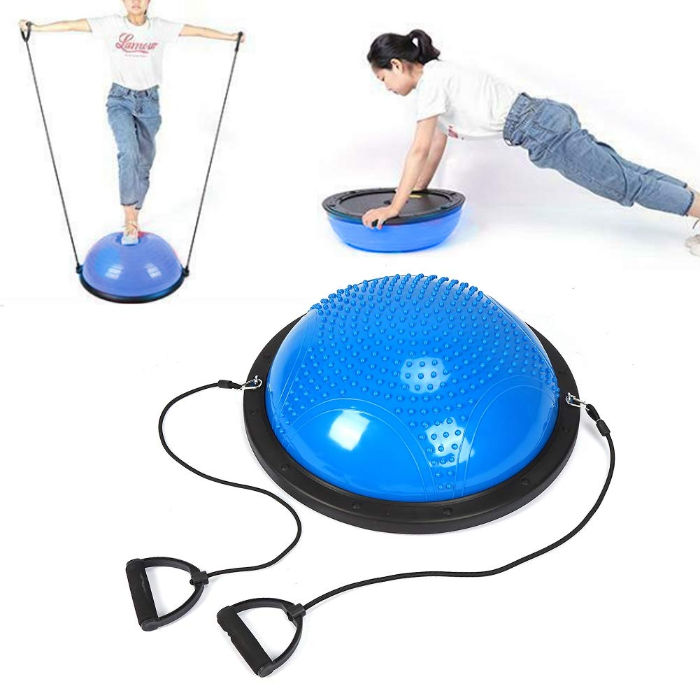 Half Yoga Ball, Massage Exercise Mat Balancing Tip Pods Points for Pilates Gymnastics for Child Adult for Yoga and Fitness Training by Salmue