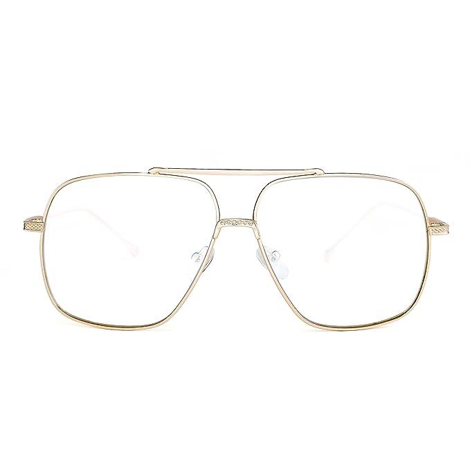 Gafas de Sol Aviador Oversize Lente Claro Gradiente Piloto ...