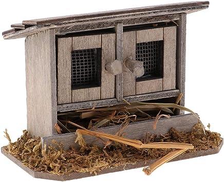 perfeclan 1//12 Puppenhaus Zubeh/ör Miniatur Holz B/ücher B/ücherregal Accessiories Puppenstuben Dekoration