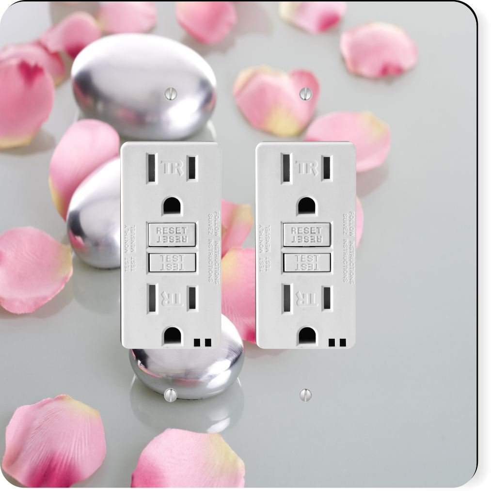 Rikki Knight 2045 Gfidouble Spa Stones with Rose Petals Design Light Switch Plate