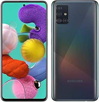 Samsung Galaxy A51 (SM-A515F/DS) Dual SIM 128GB,4GB RAM GSM Factory Unlocked (Black)