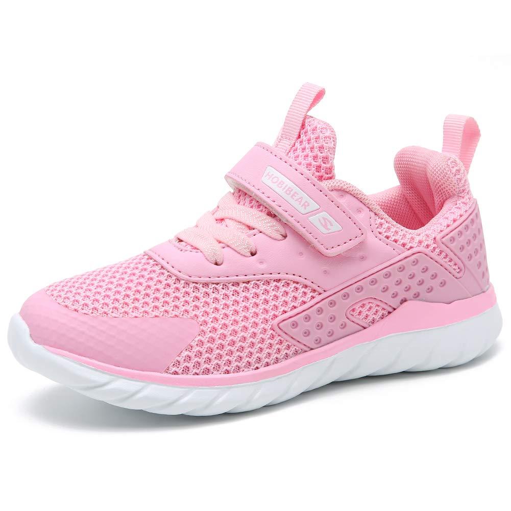 GUBARUN Kids Running Shoes Boys and Girls Lightweight Comfortable Walking Sneakers(9, Pink)