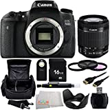 Canon EOS 760D/Rebel T6s DSLR Camera with EF-S 18-55mm f/3.5-5.6 IS STM Lens + Accessory Kit