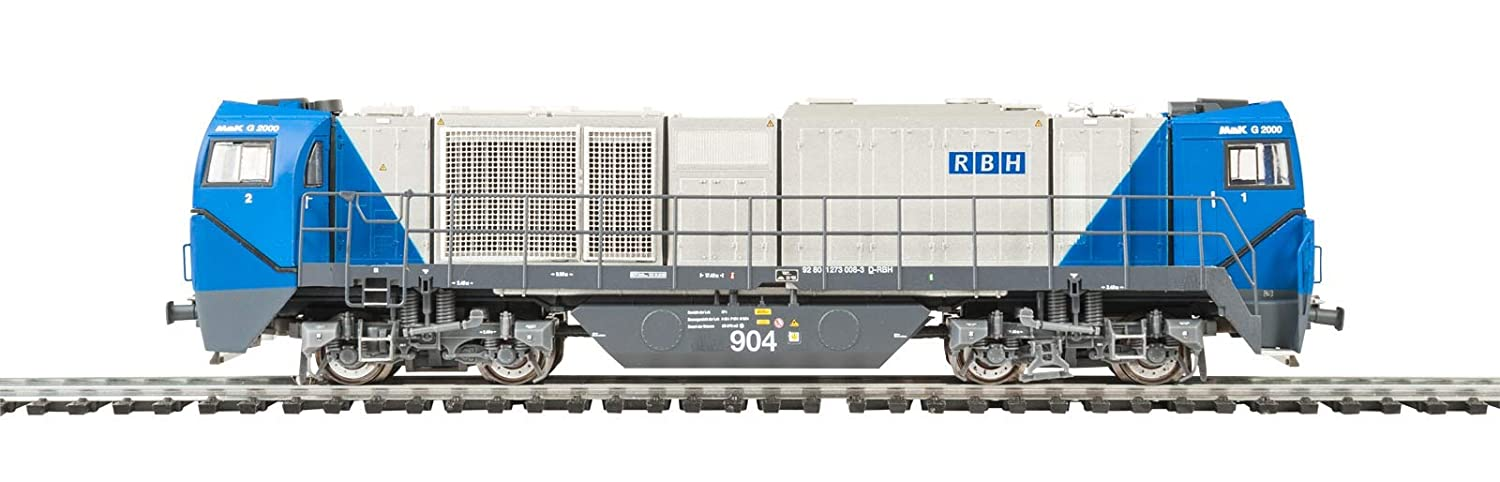 Mehano 58902 RBH asimétrica – DC VOSSLOH G2000, Plata and Azul, H0
