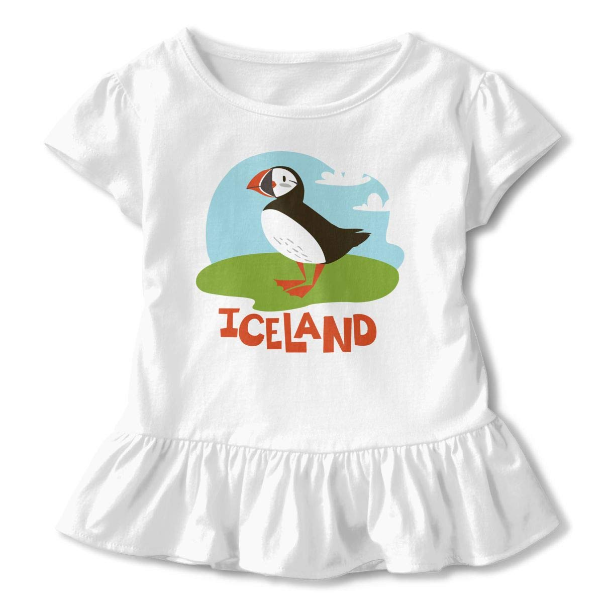 Toddler Baby Girl Puffin Animals of Iceland Set Funny Short Sleeve Cotton T Shirts Basic Tops Tee Clothes