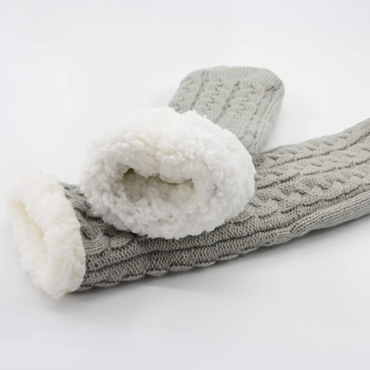 Century Star Womens Fuzzy Slipper Socks Warm Knit Thick Soft Heavy Fleece lined Christmas Gift Stockings Winter Socks