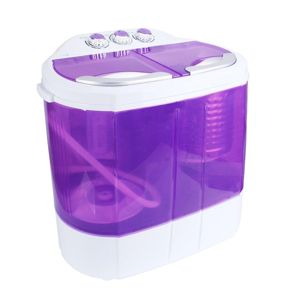 Display4top Portable Charge supérieure 4.2kg machine à laver - machines à laver (Violet)
