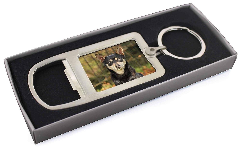 Australian Kelpie Dog Chrome Metal Bottle Opener Keyring in Box Gift AD-AK1MBO
