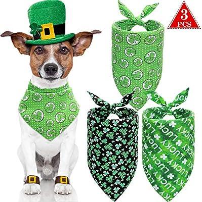 3 Pañuelos de Gato Perro de San Patricio Pañuelo Verde de Mascotas ...