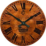Roger Lascelles Large Vineyard French Wall Clock, 19.7-Inch