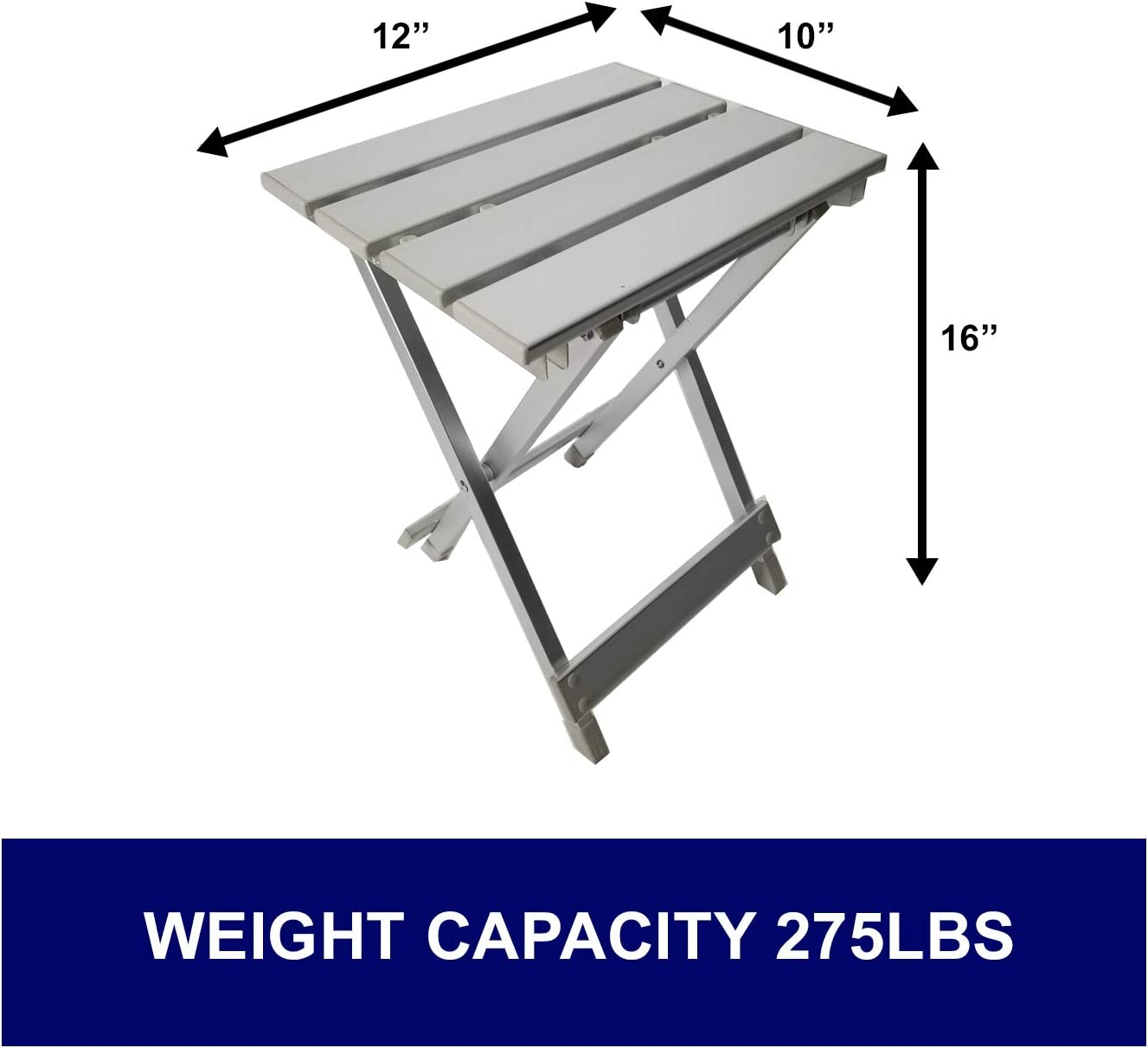 Lightweight Designed in USA Suitcase Style Design Made of Military Grade Aluminum Heavy Duty 5 Years Warranty Oasis Raptor Table and Two Padded Chairs Combo